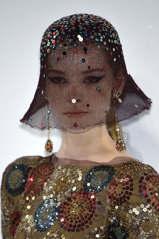 Chanel Couture Fall 2009 Embellished Full Coverage Hats Repinned by  www.fashion.net 331d4e4132fc