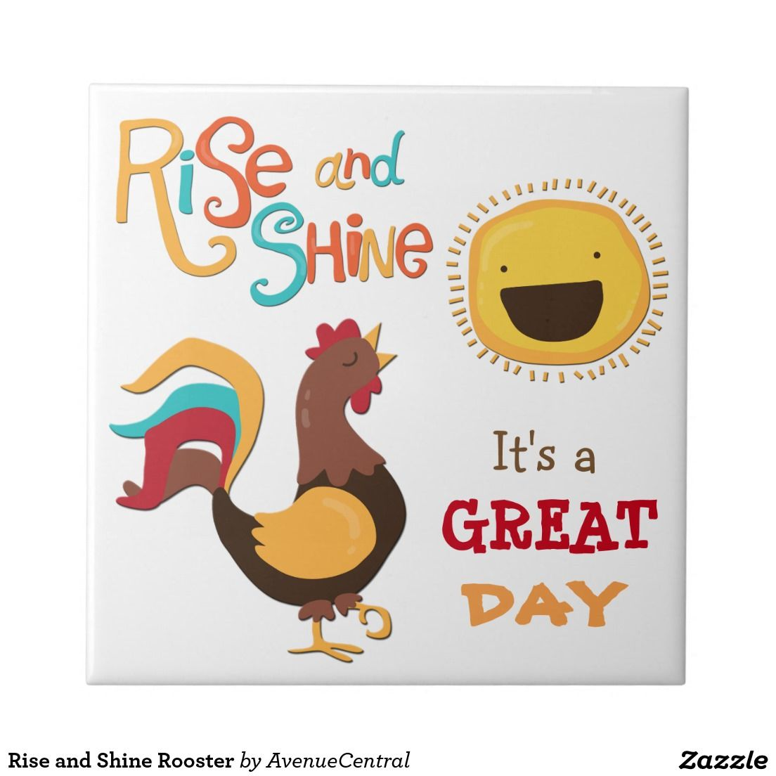 Rise and Shine Rooster Tile