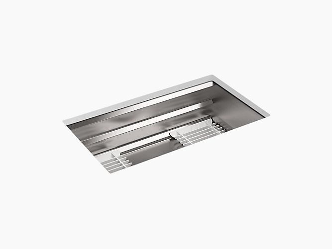 PLUMBING- OPTION #1- (THIS IS CLEAN MODERN, AND A GREAT LOOK, MOST COST EFFECTIVE THAN A APRON FRONT STYLE SINK ) KITCHEN SINK- K-5540 | Prolific Under-Mount Stainless-Steel Sink with Accessories | KOHLER