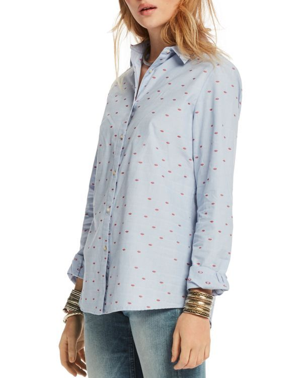 b01f8545 Scotch & Soda Embroidered Lips Button-Down Shirt | Products | Maison ...