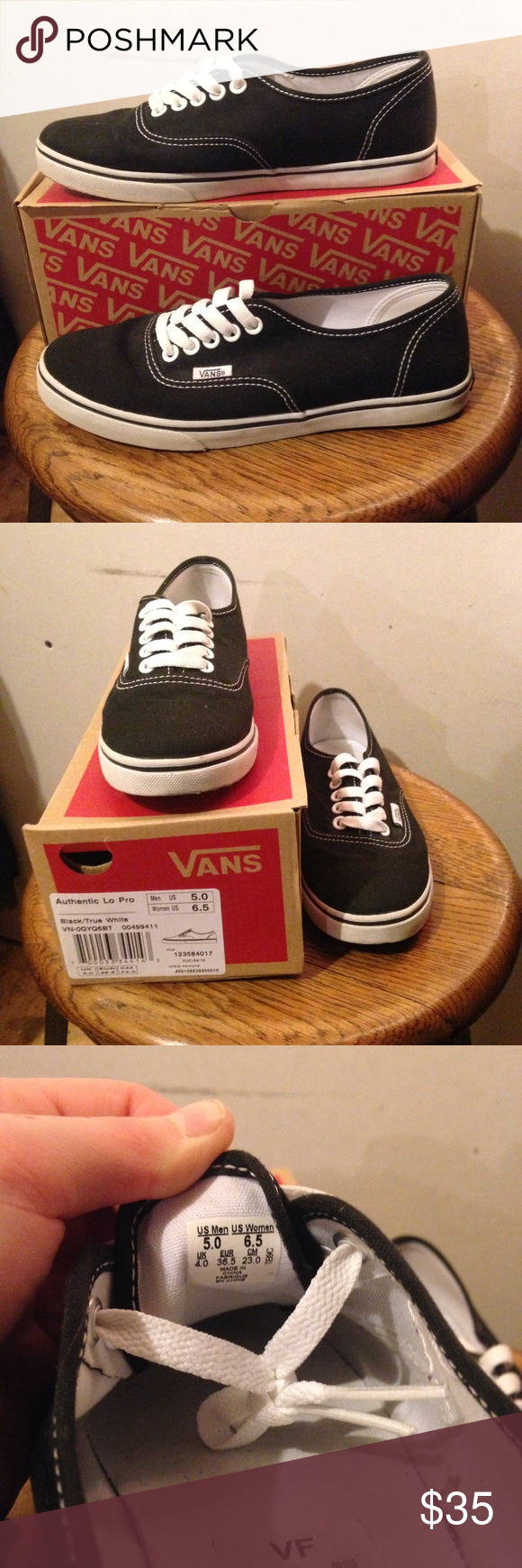 Vans Hardly worn - like new. Super cute and go with any outfit! Vans Shoes Sneakers