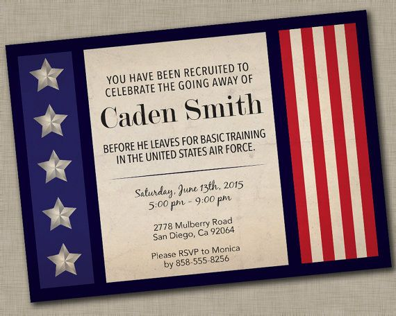 military going away party invitation deployment party basic