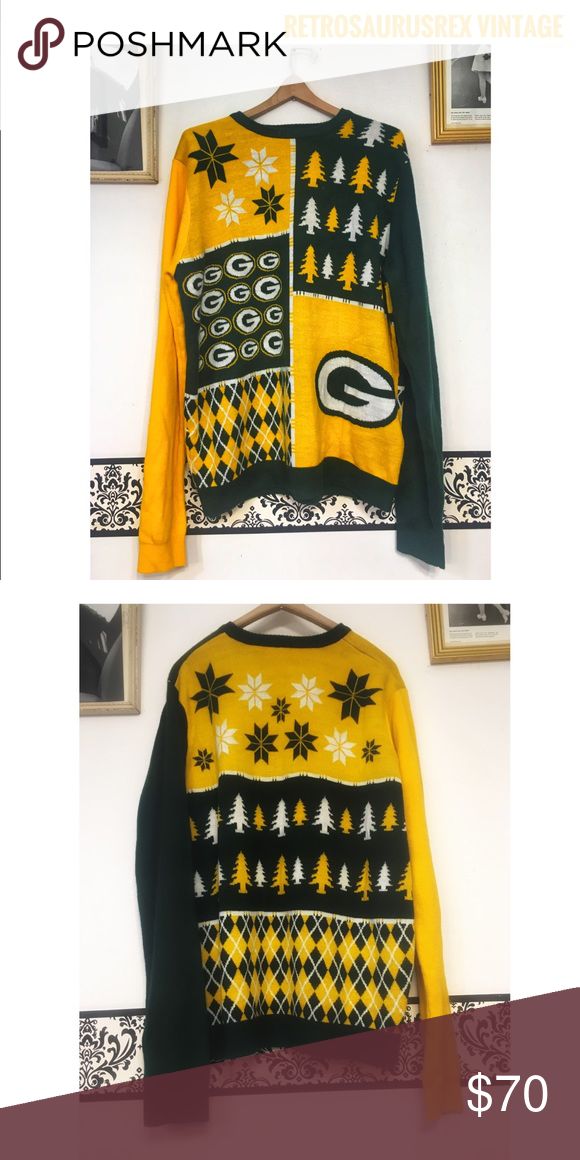 Green Bay Packers Ugly Christmas Sweater Knit Xxl In 2018 My Posh