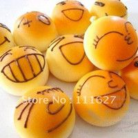 Universal Charm Lycra with snow beads filling Free Shipping, New Squishy Buns Bread Charms, Squishies Cell Phone Straps, Wholesale Ll-01-023
