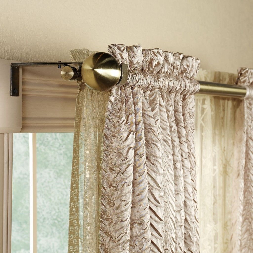 Awesome Bay Window Double Curtain Rod Bay Window Double Curtain
