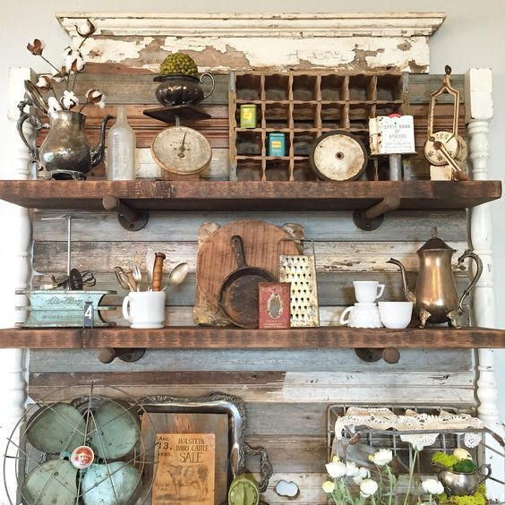 Booth Crush Antique Shelving
