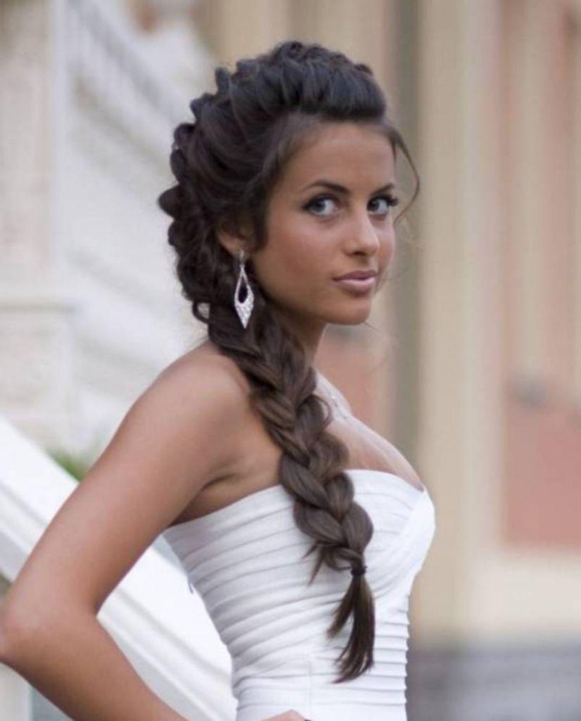 Brautfrisuren Lange Schwarze Haare