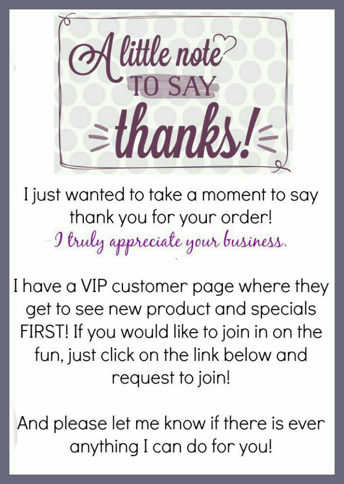 thank you for your business note