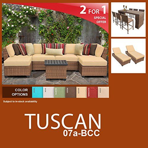 tuscan 16 piece outdoor wicker patio furniture package tuscan07abcc rh pinterest com outdoor furniture packages sydney outdoor furniture package deals