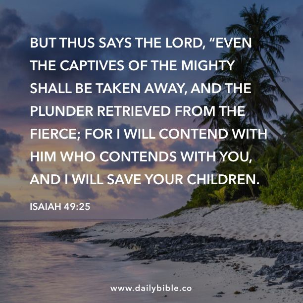 Image result for Isaiah 49:25