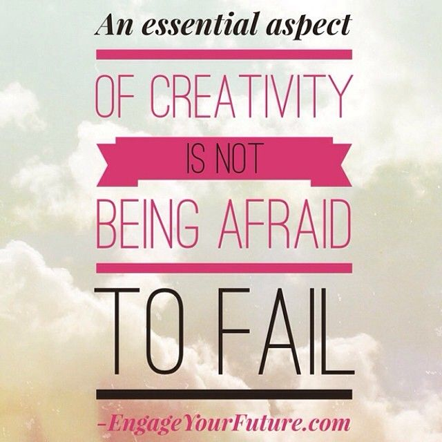 An essential part of creativity is not being afraid to fail. How badly do you want what you desire in life and in your network marketing or direct sales business? Are you willing to work for it, or are you more interested in making excuses. Results and excuses can't exist at the same time, so you must choose today which one you want more! www.EngageYourFuture.com