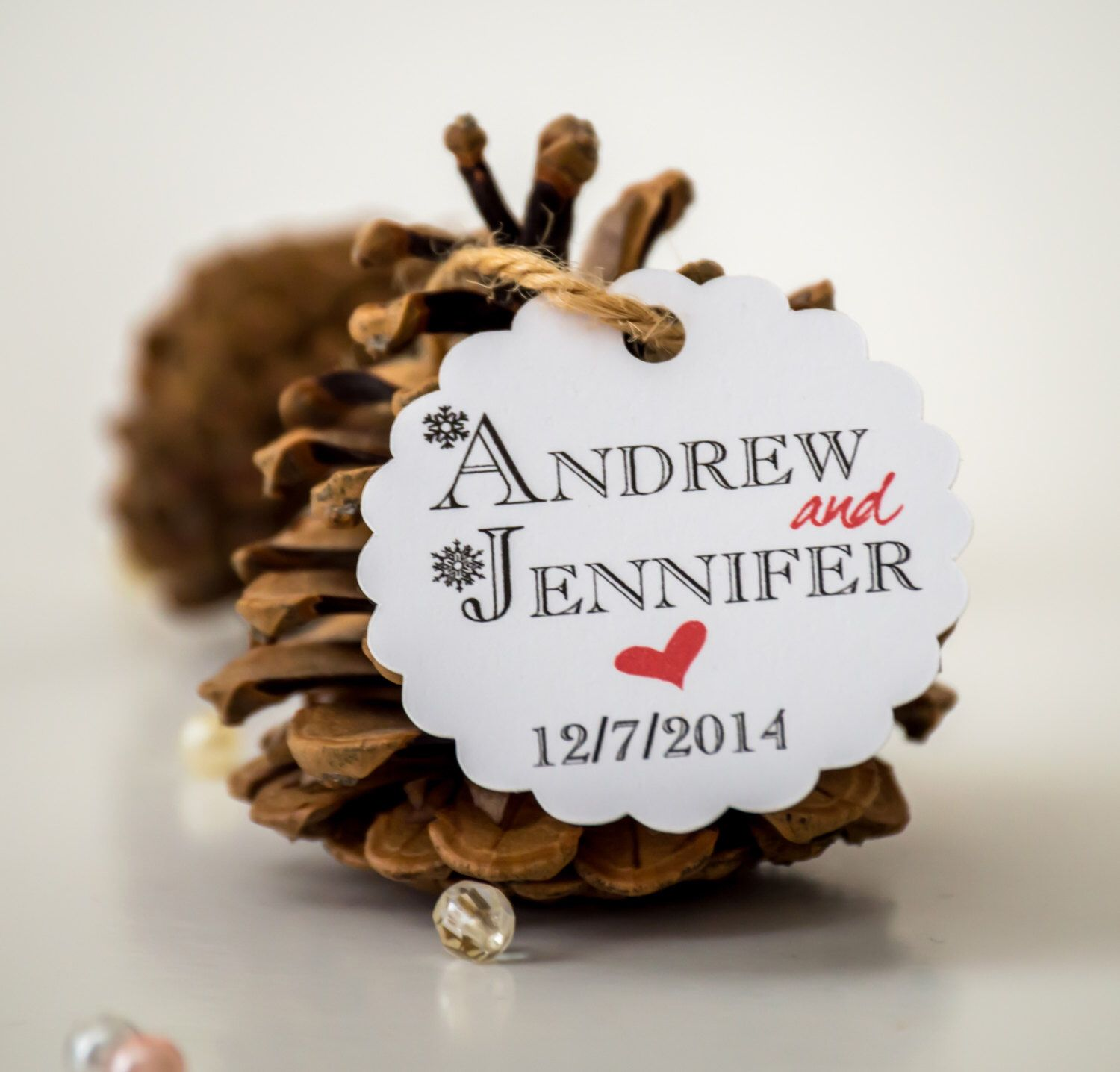 Personalized favor tags, wedding favor tags, winter wedding, gift ...