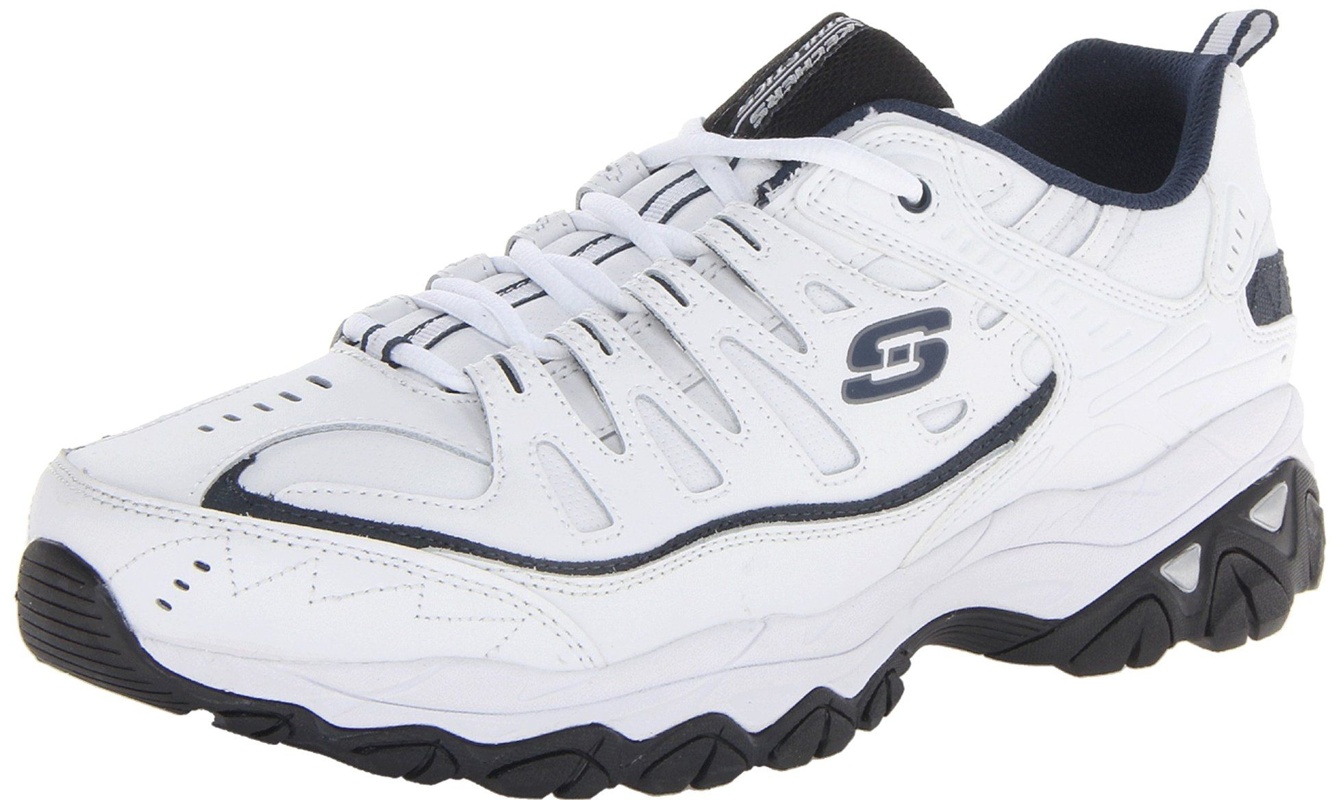 Skechers Sport Men's Fit Reprint Oxford,White/Navy,10 M US. Walking