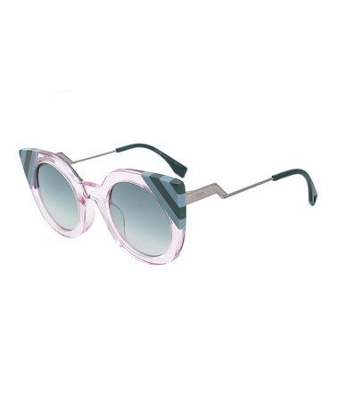 8277f37f796 Another great find on  zulily! Pink   Blue Waves Butterfly Cat-Eye  Sunglasses