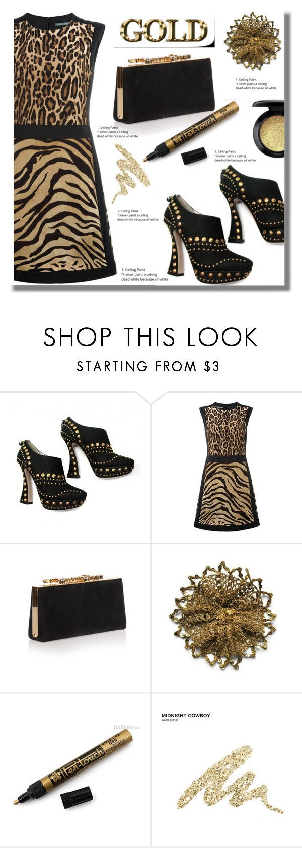 """The great closet"" by edita-n ❤ liked on Polyvore featuring Alberta Ferretti, Jimmy Choo, Urban Decay and MAC Cosmetics"