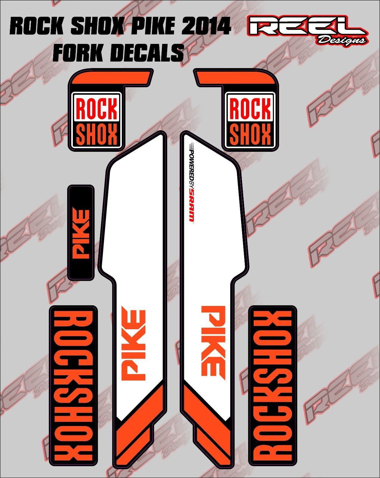 Rockshox pike 2014 fork decal stickers graphics mountain bike mtb ebay lifestyle