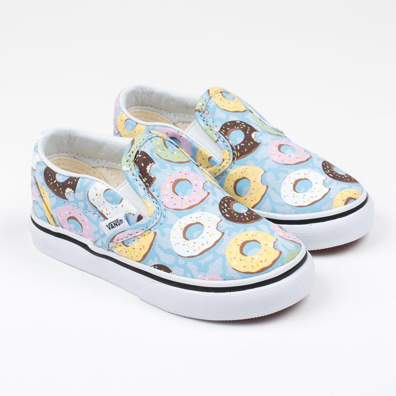 "a27c39533b457c Vans ""Classic Slip-on"" blaue Sneakers mit Donut-Print"