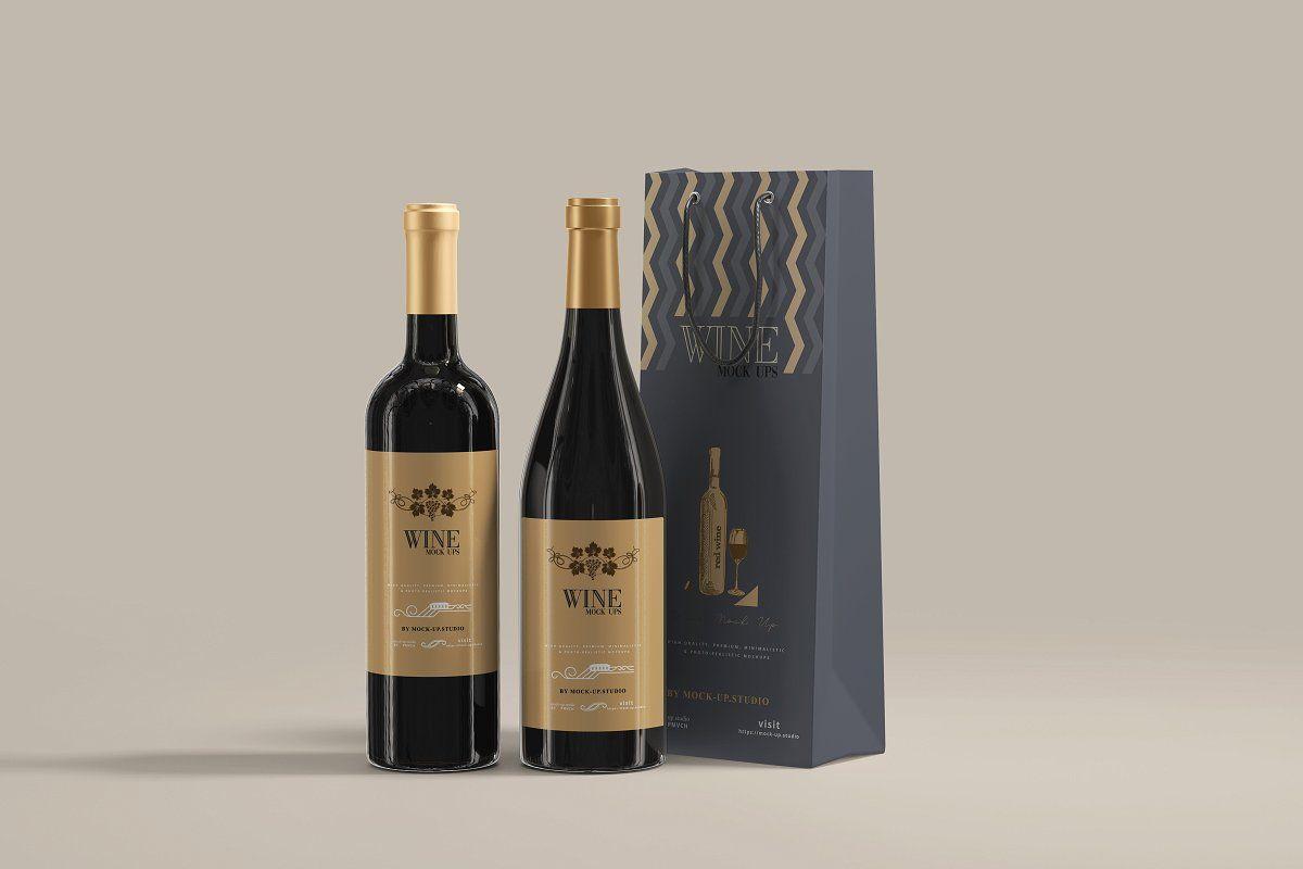 Download Can Mockups 500ml Wine Bottle Wine Bottle Design Wine Bottle Bag