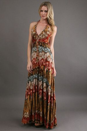 The Shurr Maxi Dress in Bronze by Sky at CoutureCandy.com