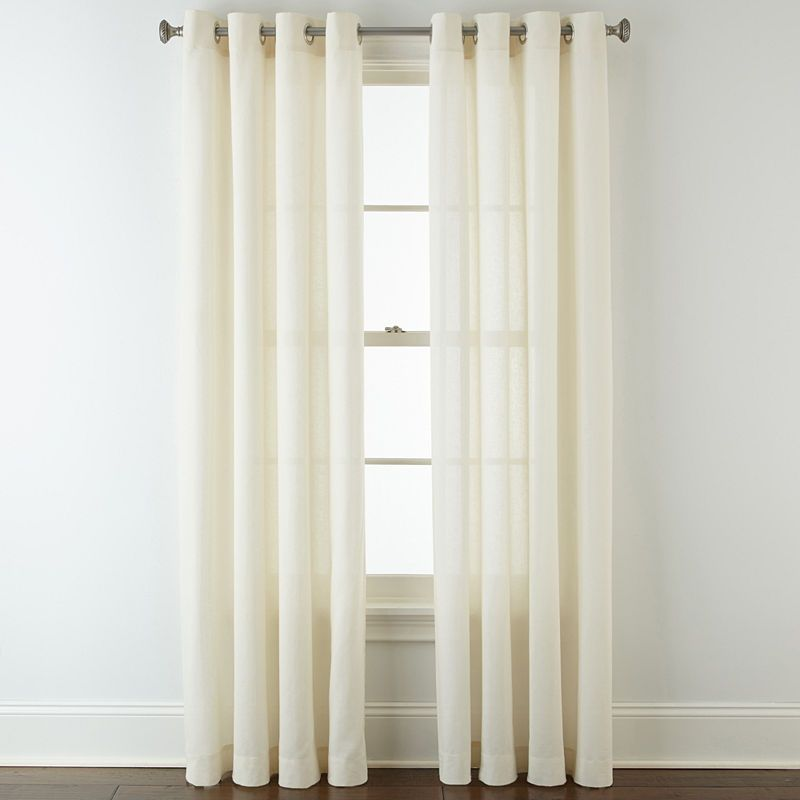 Jcpenney Home Cotton Classics Solid Grommet Top Curtain Panel