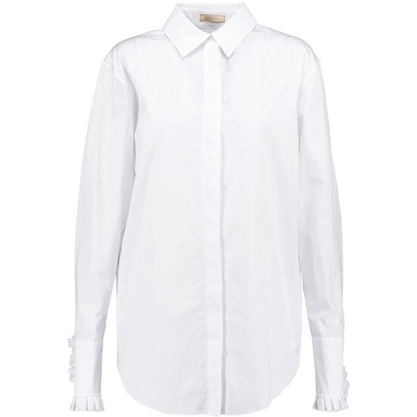 Sale Best Place Fake Cheap Online White Ruffle Collar Shirt Nina Ricci Free Shipping Excellent Free Shipping Finishline Manchester For Sale laBnzz5Q