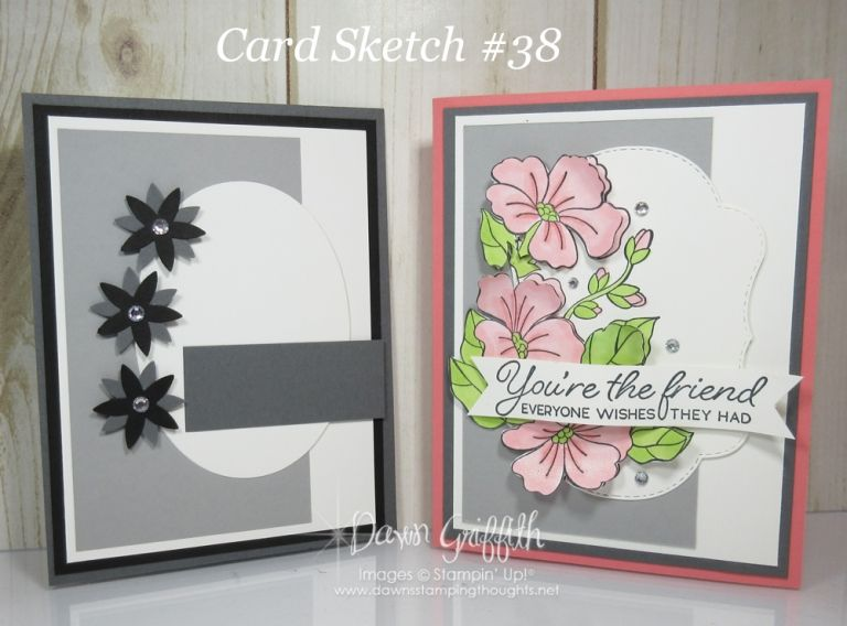 Card Sketch #38 - Dawn's Stamping Thoughts #cardsketches