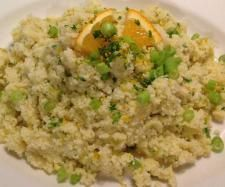 Apple and orange cous cous