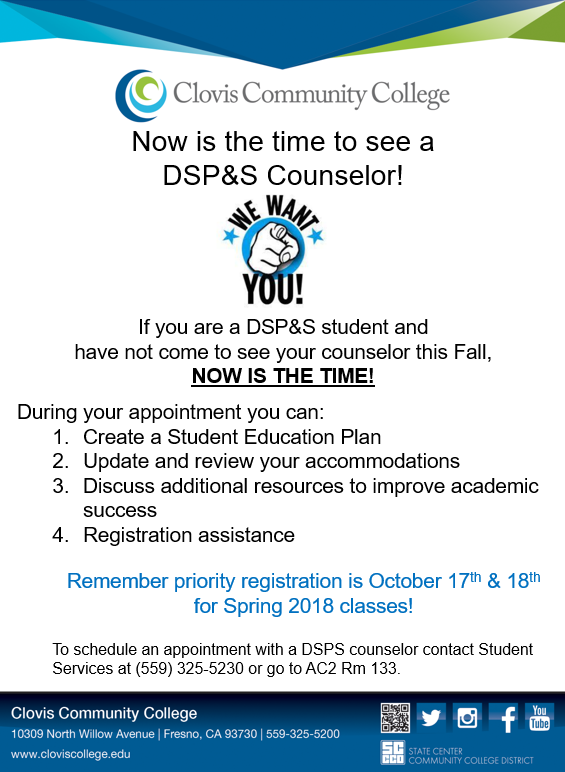 If You Re A Dsp S Student Now Is The Time To See A Dsp S Counselor Don T Miss Out On Priority Registration For Spr Student Activities Education Plan Student