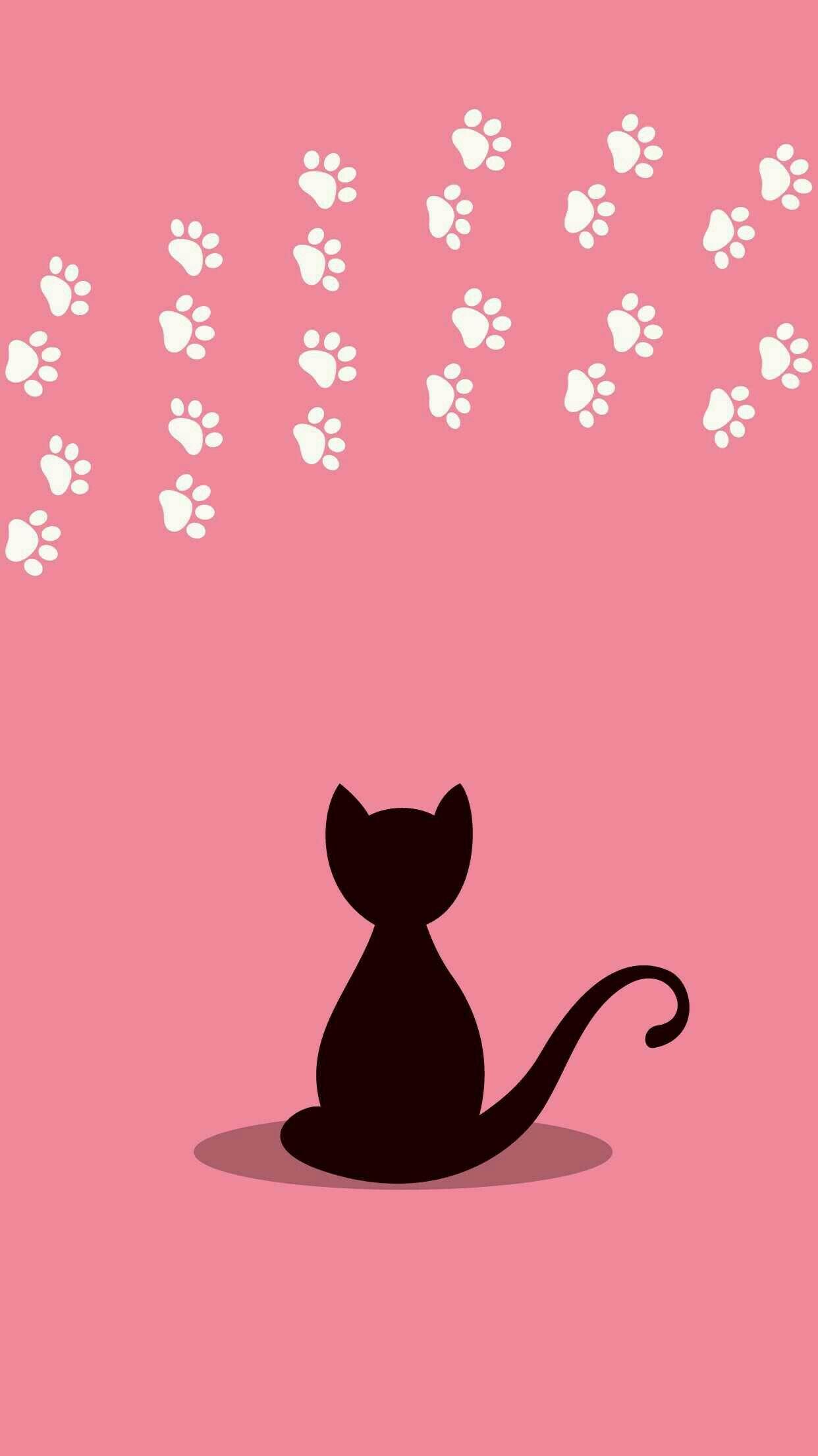 Картинки с рисованными кошками на телефон, днем свадьбы