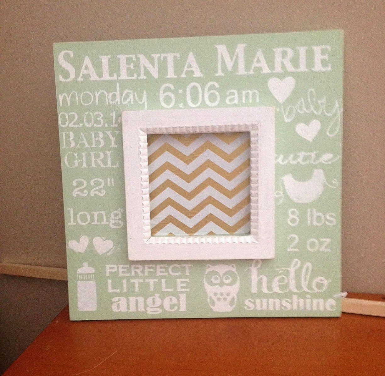 Diy chunky wood frame makes a great personalized baby gift diy chunky wood frame makes a great personalized baby gift negle Gallery