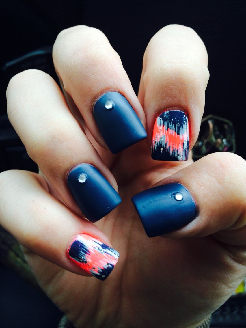 Vintage with a twist of style! With this cute navy and coral design ...