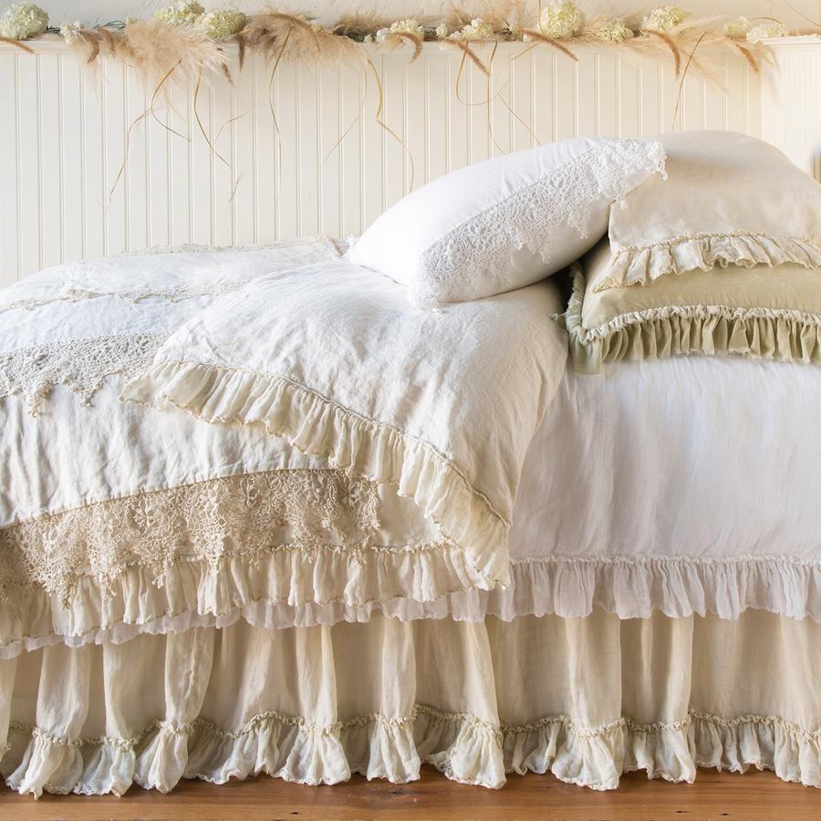 Bella Notte Linen Whisper Coverlet Neutral bed linen