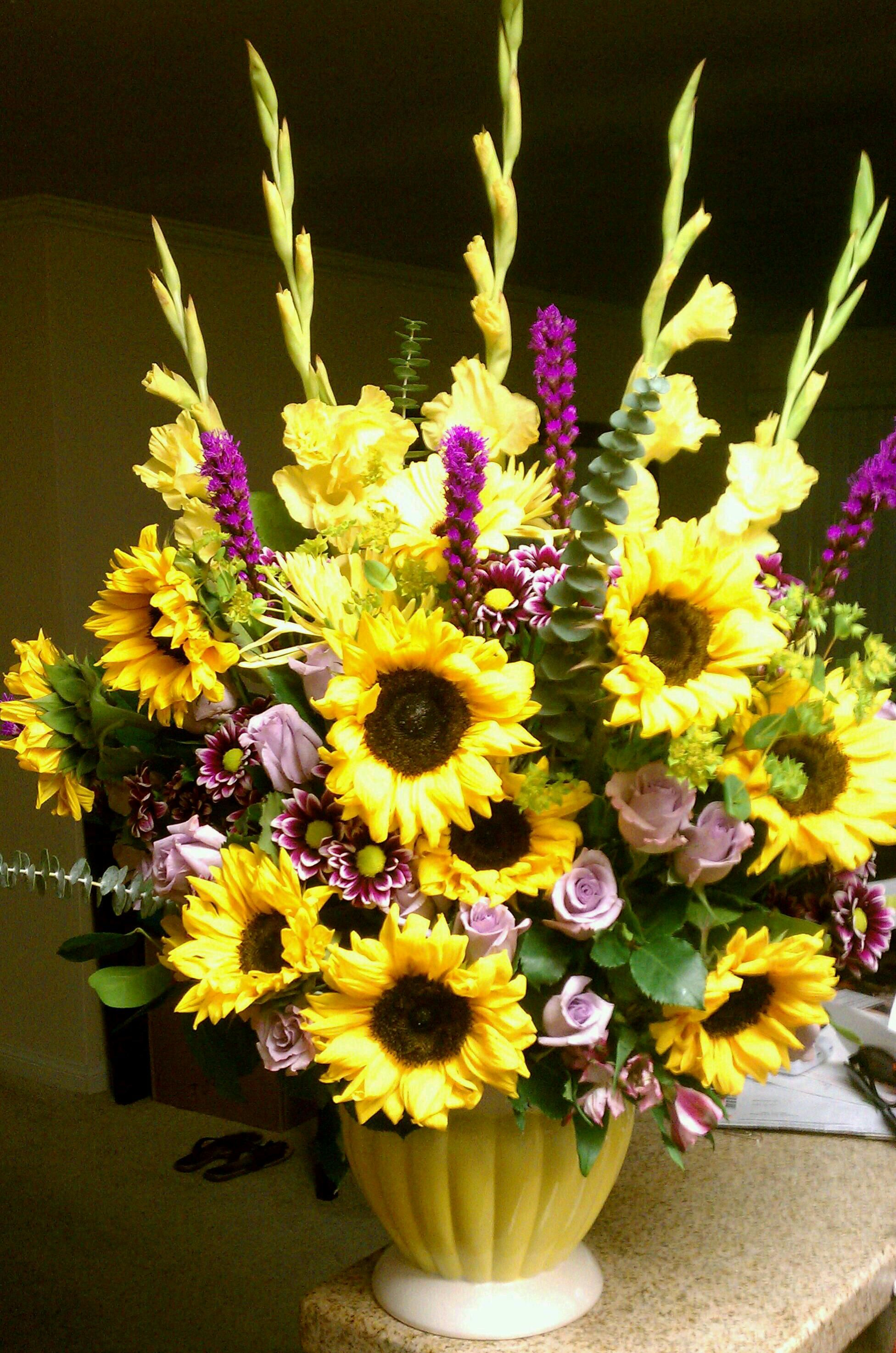 Sunflower arrangement floral arrangements i ve made