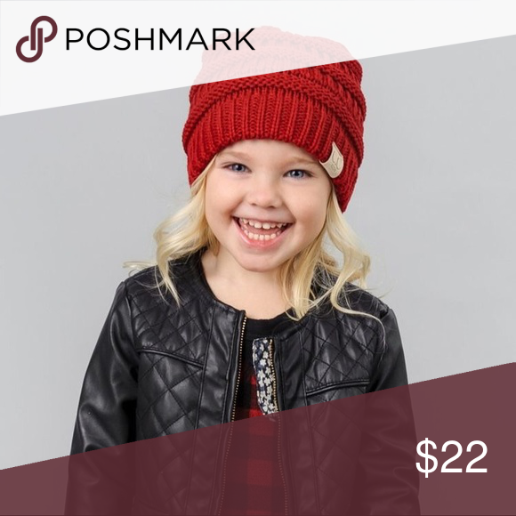 5db4e73cf81 Kids Red CC Beanie Holidays Reds are in! Kids red CC Beanie 100% acrylic