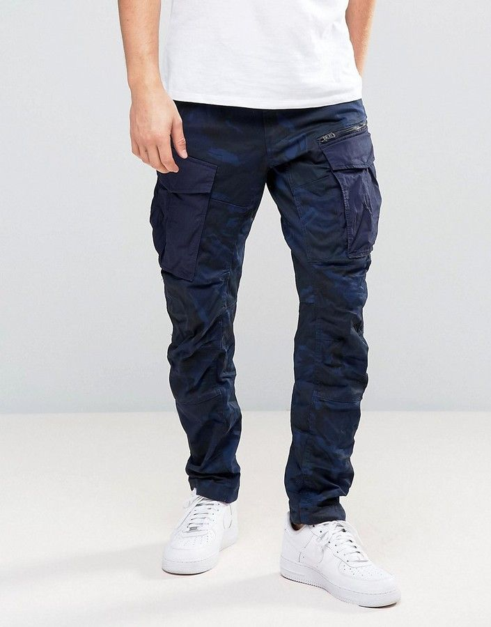 3a94fc0d044 G-Star Rovic Zip PM 3D Tapered Pant Blue Camo | Men Jeans, Joggers ...