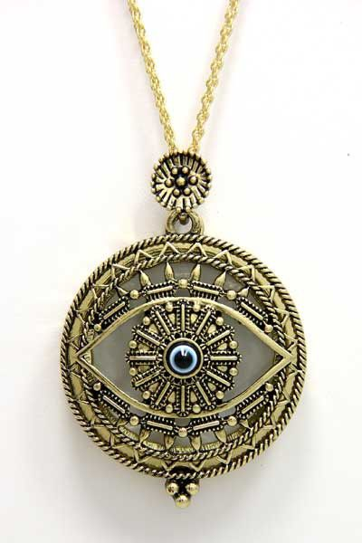Evil Eye Magnifier Pendant Necklace
