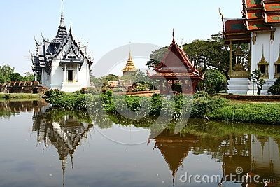 Thai architecture in Bangkok park