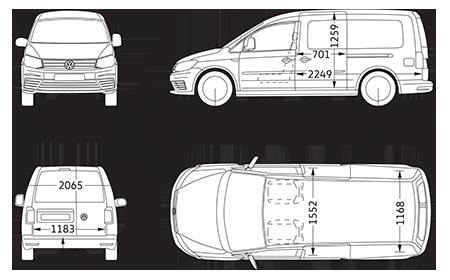 Vw Caddy Maxi Panel Van Dimensions Volkswagen Vans And Commercial Vehicles Camper Ideen Vw Touran Camper