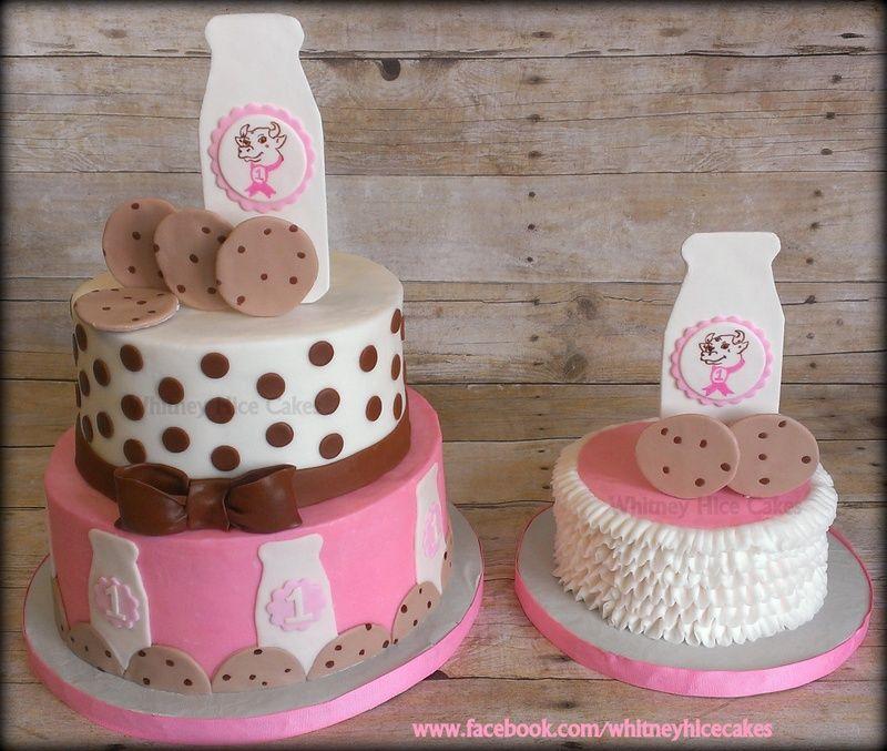 Birthday cakes milk cookies cookie birthday party