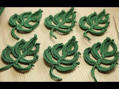 вязание объёмного листика крючком Easy To Crochet Leaf Youtube