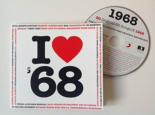 1968 BIRTHDAY Or ANNIVERSARY GIFT I Love Compilation Music Hits CD 20 Original Songs Year Greeting Card Check Out This Great Article