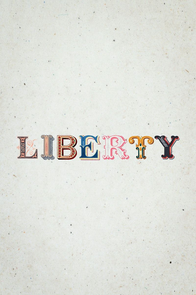 Liberty Word Antique Victorian Font Typography Free Image By Rawpixel Com Hein In 2020 Victorian Fonts Free Illustrations Typography Fonts