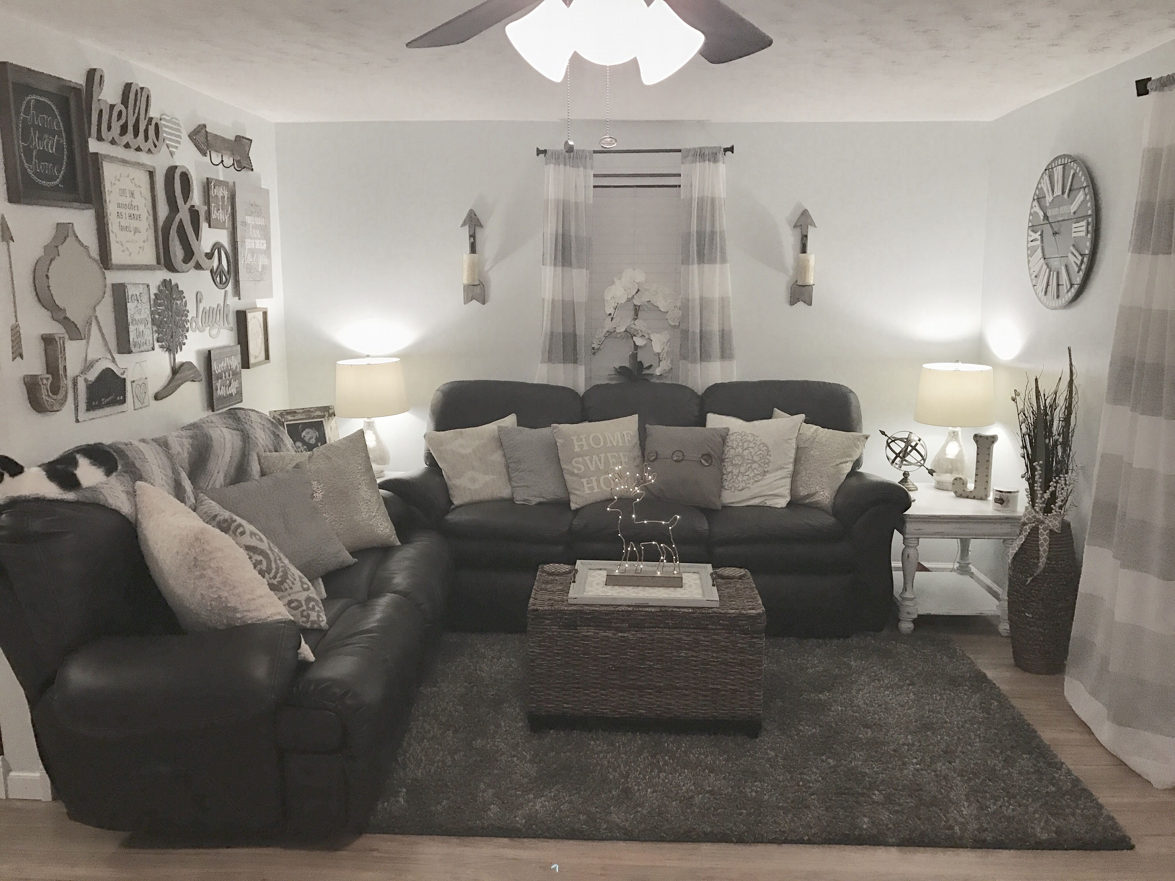 Cozy Rustic Farmhouse Glam Chic Inspired Living Room