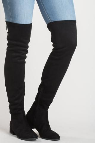 Rashelle Black Over The Knee Boot By Chinese Laundry Over The Knee Boot Outfit Black Knee High Boots Thigh High