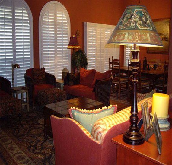 terracotta living room southwest style southwest