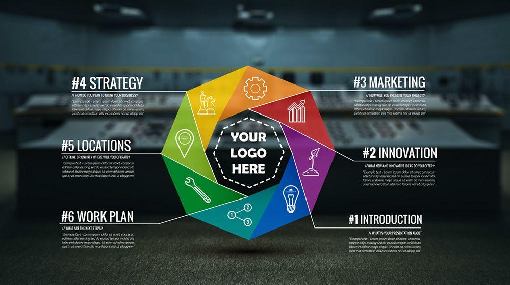 3d Infographic Colorful Circle Prezi Presentation Template