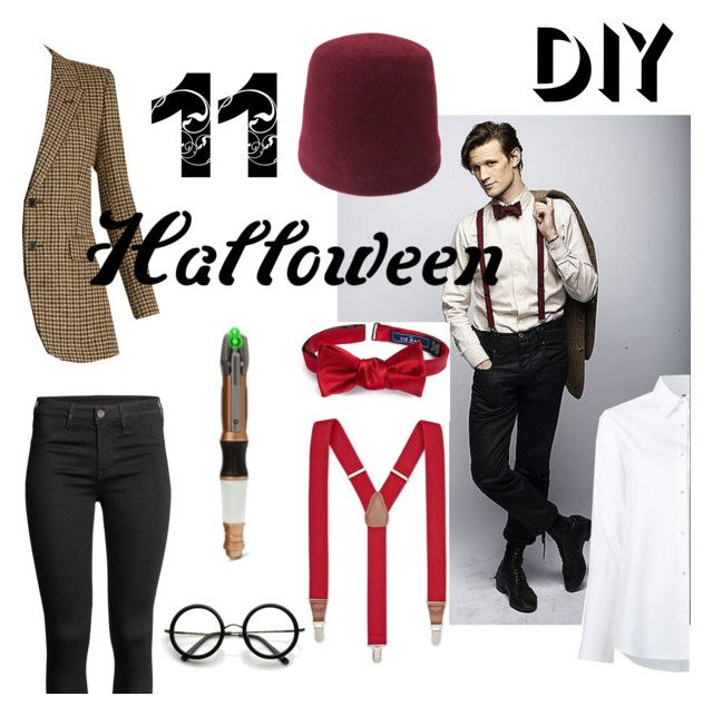 """""""Untitled #19"""" by istanbul-was-constantinople ❤ liked on Polyvore featuring The Tie Bar, Club Room, Misha Nonoo, Yves Saint Laurent, ZeroUV, 11, doctorwho, mattsmith, halloweencostume and DIYHalloween"""