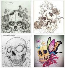 Bildergebnis für skulls sketch