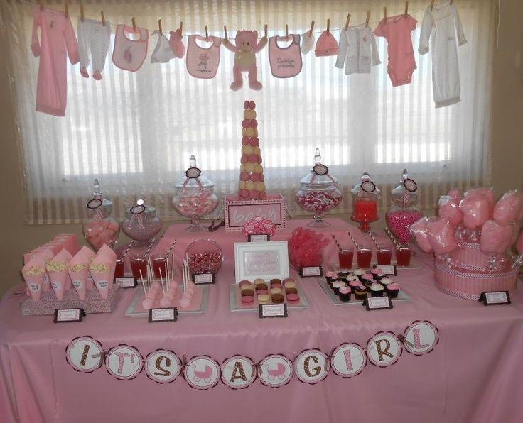 Mesa Baby Shower Nina.Ideas De Mesas De Postres Para Baby Shower Mesa De Postres