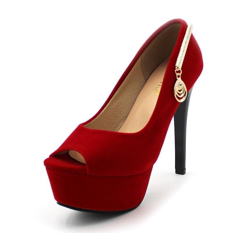 ENMAYER Brand New Fashion Women High Heels Shoes Rhinestone Wedding  Footwear Ladies Platform Pumps More Colors d7144cee4a9e